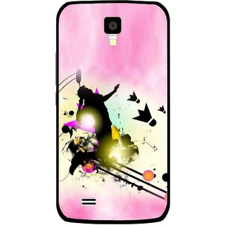 Snooky Printed Flying Man Mobile Back Cover For Gionee Pioneer P2S - Multicolour