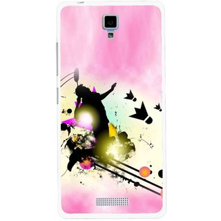 Snooky Printed Flying Man Mobile Back Cover For Gionee Pioneer P4 - Multicolour