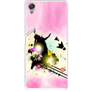 Snooky Printed Flying Man Mobile Back Cover For Sony Xperia X - Multicolour