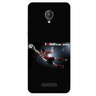 Snooky Printed Football Passion Mobile Back Cover For Micromax Canvas Spark Q380 - Multicolour