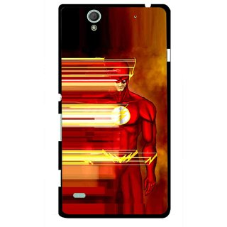 Snooky Printed Electric Man Mobile Back Cover For Sony Xperia C4 - Multicolour