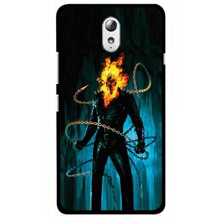 Snooky Printed Ghost Rider Mobile Back Cover For Lenovo Vibe P1M - Multicolour