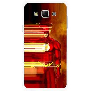 Snooky Printed Electric Man Mobile Back Cover For Samsung Galaxy E5 - Multicolour
