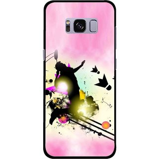 Snooky Printed Flying Man Mobile Back Cover For Samsung Galaxy S8 - Multicolour