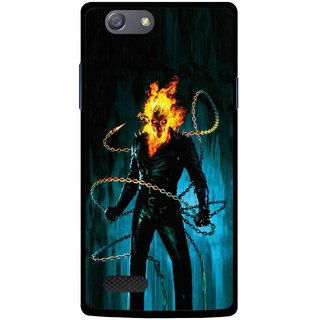 Snooky Printed Ghost Rider Mobile Back Cover For Oppo Neo 7 - Multicolour