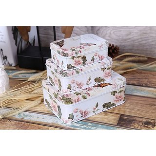 European style butterfly design storage boxes for jwellery, candies etc.( set of 3)