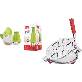 Quick Cheaf Veg. Cutter ABS WITH Chapati Press S.S. (Jumbo)
