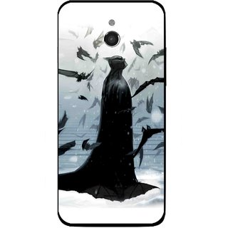 Snooky Printed Black Bats Mobile Back Cover For Infocus M2 - Multicolour