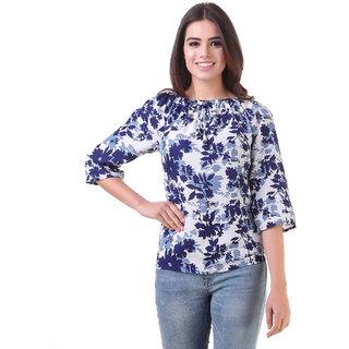 Delux Look Women's Multicolor Crepe Crop Tops