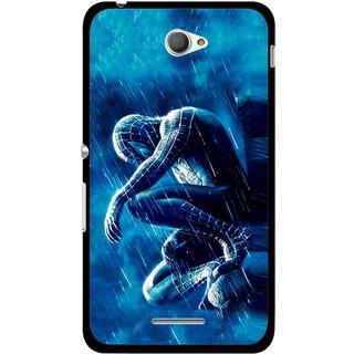 Snooky Printed Blue Hero Mobile Back Cover For Sony Xperia E4 - Multicolour