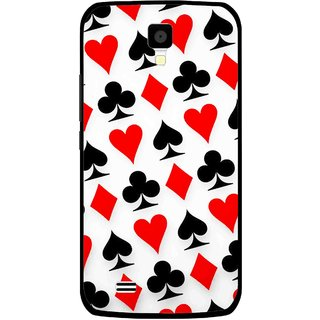 Snooky Printed Playing Cards Mobile Back Cover For Gionee Pioneer P2S - Multicolour