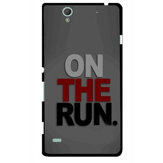 Snooky Printed On The Run Mobile Back Cover For Sony Xperia C4 - Multicolour