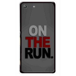 Snooky Printed On The Run Mobile Back Cover For Sony Xperia M5 - Multicolour