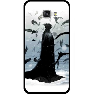 Snooky Printed Black Bats Mobile Back Cover For Samsung Galaxy A7 2016 - Multicolour