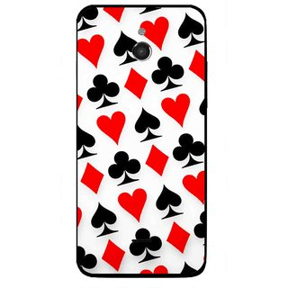 Snooky Printed Playing Cards Mobile Back Cover For Infocus M2 - Multicolour