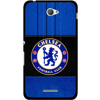 Snooky Printed FootBall Club Mobile Back Cover For Sony Xperia E4 - Multicolour