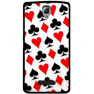Snooky Printed Playing Cards Mobile Back Cover For Lenovo A2010 - Multicolour