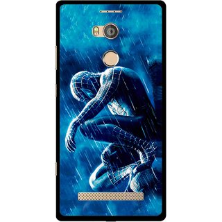 Snooky Printed Blue Hero Mobile Back Cover For Gionee Elife E8 - Multicolour