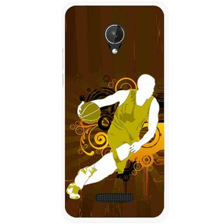 Snooky Printed Chamoins wins Mobile Back Cover For Micromax Canvas Spark Q380 - Multicolour