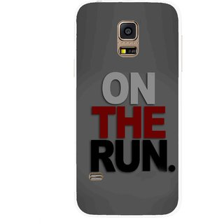 Snooky Printed On The Run Mobile Back Cover For Samsung Galaxy S5 Mini - Multicolour