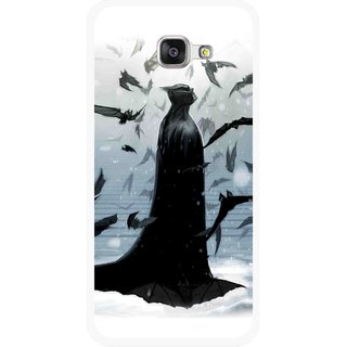 Snooky Printed Black Bats Mobile Back Cover For Samsung Galaxy A5 2016 - Multicolour