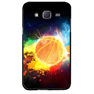Snooky Printed Paint Globe Mobile Back Cover For Samsung Galaxy J7 - Multicolour