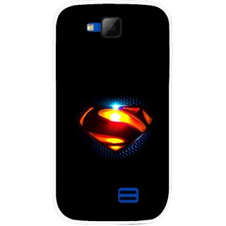 Snooky Printed Super Hero Mobile Back Cover For Micromax Canvas Fun A63 - Multicolour