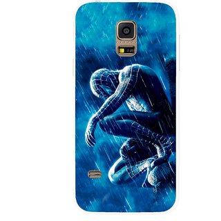Snooky Printed Blue Hero Mobile Back Cover For Samsung Galaxy S5 Mini - Multicolour