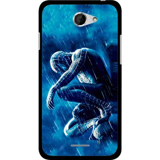 Snooky Printed Blue Hero Mobile Back Cover For HTC Desire 516 - Multicolour