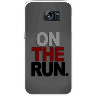 Snooky Printed On The Run Mobile Back Cover For Samsung Galaxy S7 - Multicolour