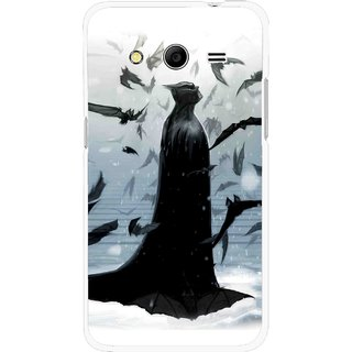Snooky Printed Black Bats Mobile Back Cover For Samsung Galaxy G355 - Multicolour
