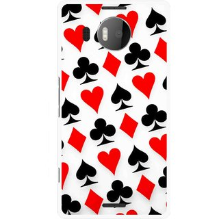 Snooky Printed Playing Cards Mobile Back Cover For Microsoft Lumia 950 XL - Multicolour