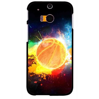 Snooky Printed Paint Globe Mobile Back Cover For HTC One M8 - Multicolour