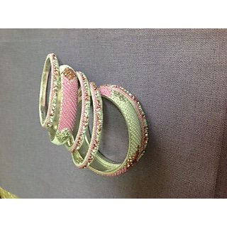 Multi Coloured Meenakari Bangles  With Kundan Work  For Karwachauth and Diwali
