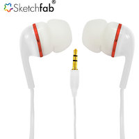 Sketchfab Earphone Without Mic Compatible With All 35mm jack White - Assorted Color