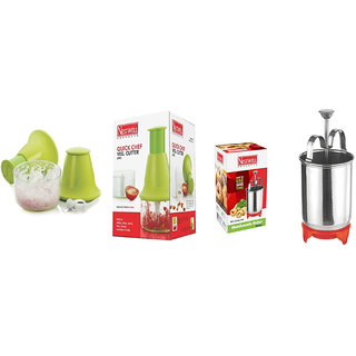 Quick Cheaf Veg. Cutter ABS  WITH  Menduwada Maker (Deluxe) S.S.