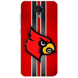 Snooky Printed Red Eagle Mobile Back Cover For Micromax Canvas Xpress 2 E313 - Multicolour