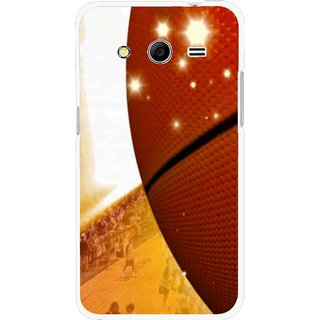 Snooky Printed Basketball Club Mobile Back Cover For Samsung Galaxy G355 - Multicolour