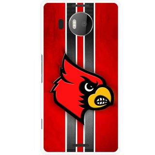 Snooky Printed Red Eagle Mobile Back Cover For Microsoft Lumia 950 XL - Multicolour