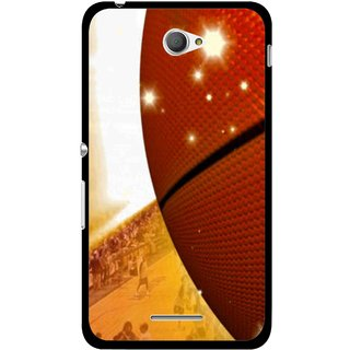 Snooky Printed Basketball Club Mobile Back Cover For Sony Xperia E4 - Multicolour
