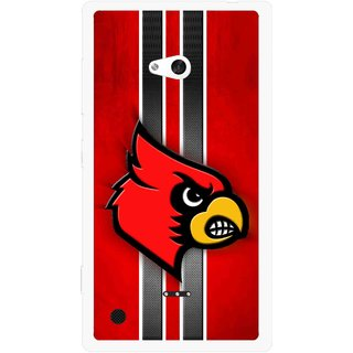 Snooky Printed Red Eagle Mobile Back Cover For Nokia Lumia 720 - Multicolour