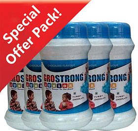 Grostrong Junior Balanced Nutrition for fast Growth (Chocolate Flavour) - pack of 5