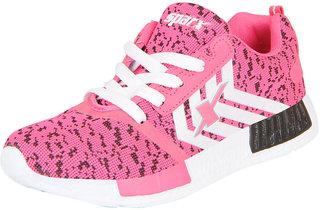Sparx Women's Pink White Sports Running Walking Gym Shoes