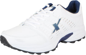 Sparx Mens White Navy Mesh Runningwalkingtraininggym Shoes