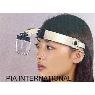 2x/3.5x/4.5x/5.5x Multi Power Helmet Magnifier Head Magnifying Glass Loupe -PIA INTERNATIONAL