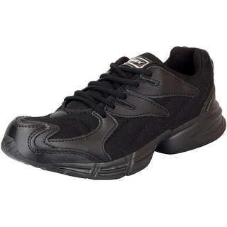 Sparx Mens Black Mesh Running/Walking/Training/Gym Shoes