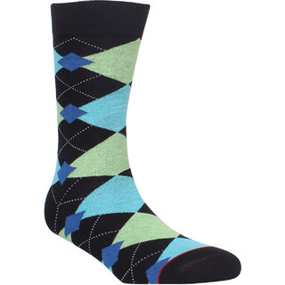 Soxytoes Geometric Crew Length Men's Cotton Minty Fresh ! Cooling  Energizing Socks 1 Pair