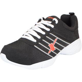 Sparx Mens Black White Mesh Running/Walking/Training/Gym Shoes