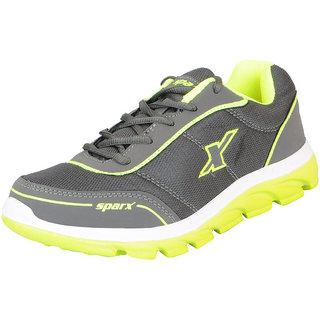 Sparx Mens Grey Green Mesh Running/Walking/Training/Gym Shoes