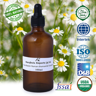 Ancient Healer 100 Natural Roman Chamomile   Essential Oil 100 ml